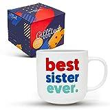 Gifffted Tazza da Caffe per Sorella, Best Sister Ever, Idee Regalo di Compleanno per Sorelle, Regali...