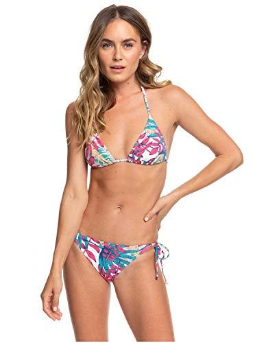 Roxy Damen Two Piece Into The Sun - Tiki-Tri-Bikini-Set für Frauen, Bright White Paradise, XL, ERJX203366