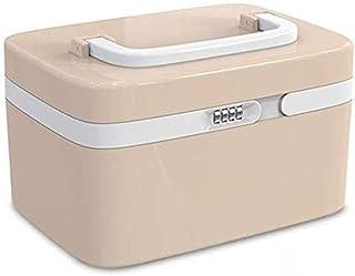 AINIYF Household Medicine Box Plastic First Aid Kit Medicine Storage Box Portable Medical Box with Password Lock Medicine Box (Color : Brown)