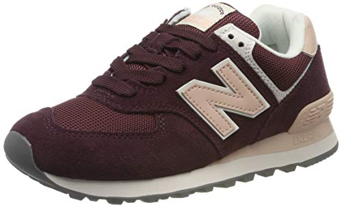 New Balance Damen 574v2 Sneaker, Rot (Red Red), 43 EU