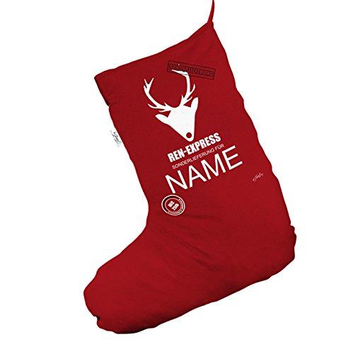 Personalizzato renna ren-express Sonderlieferung Jumbo rosso 'calza di Natale