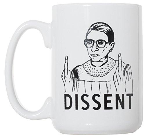 RBG Dissent Tasse – Ruth Bader Ginsburg Tasse, 425 ml, Deluxe, große doppelseitige Tasse