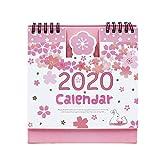 2019-2020 Schreibtischkalender mit niedlichem Einhorn-Aufstellkalender für den täglichen Monatstisch one size blumen