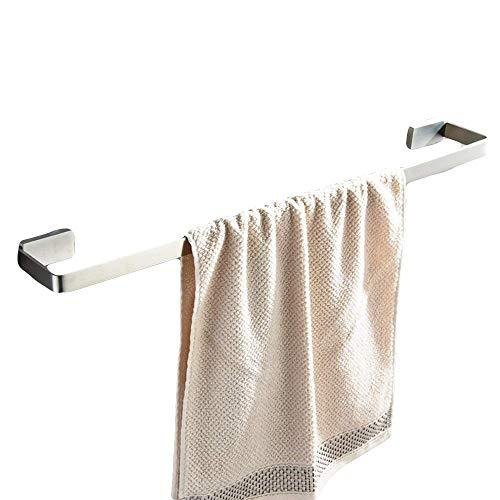 Man-hj Estante de Toalla Toalla Engrosada 304 Barras de Acero Inoxidable con vástago Simple Toalla de baño de Rod Cepillado de Toallas (Tamaño: A 40 CM) (Size : B 50CM)