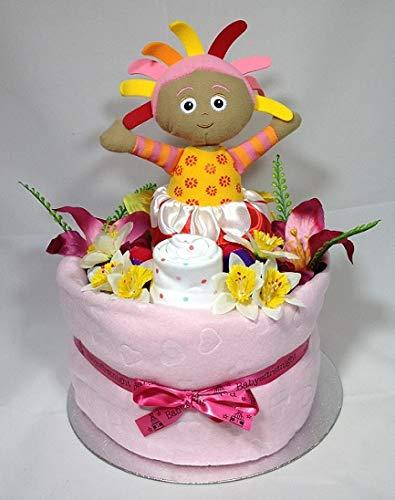 Gâteau de couches pour bébé fille Deep remplir de Noël de luxe Winnie l'Ourson/Panier Cadeau