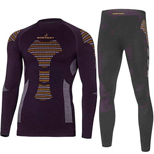 Bodydry « Extreme » Ensemble de sous-vêtements thermoactifs et respirants pour ski / snowboard / moto M noir