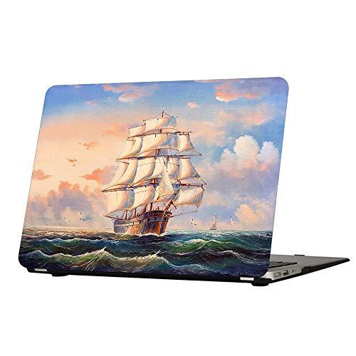 Funut - Custodia rigida in plastica lucida con rivestimento in gomma per MacBook Retina da 15 pollici, modello A1398, motivo: vela