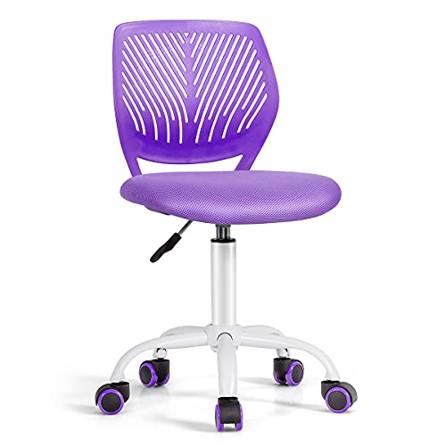 COSTWAY Kids Computer Desk Chair, Low-Back Task Study Chairs with PU...
