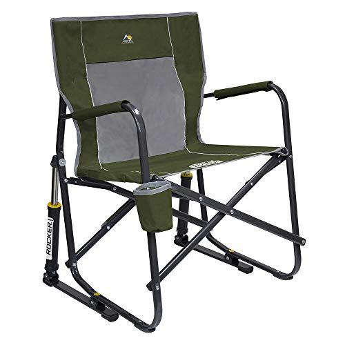 GCI Outdoor Freestyle Rocker Rocking Camp Chair, Green