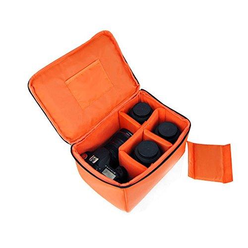 Orange Wasserdicht Stoß Partition Gepolsterte Kamera-Taschen SLR DSLR Insert Schutztasche mit Top-Griff für DSLR Einstellung Objektiv oder Blitzlicht (Big)