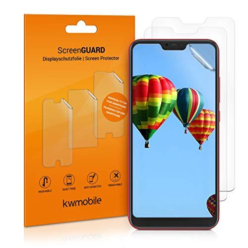 kwmobile 3x pellicola salvaschermo compatibile con Xiaomi Redmi 6 Pro/Mi A2 Lite - Film protettivo proteggi telefono - protezione antigraffio display smartphone