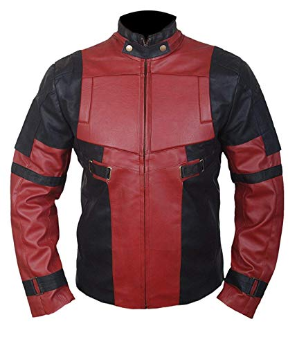 Men, Women Red & Black Party and Charater Leather Jacket