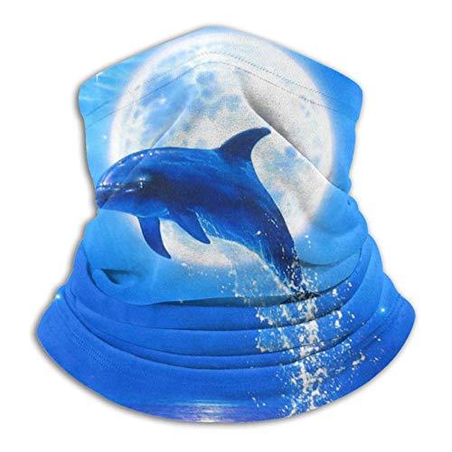 ULNIKU-T Delfín Modelo Unisex Reutilizable Ajustable Al Aire Libre Para Hombres Mujeres Cara Bufanda Bandana Multifuncional Sun UV Y Polvo Casual Polaina Cuello Calentador Impreso Pasamontañas