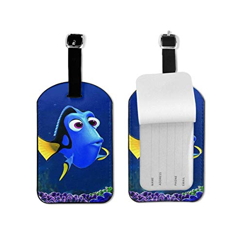 Cartoon Finding Nemo Lage Tags Suitcases Baggage Bags Adjustable Strap Leather Lage Tag for ID Labels Set for Travel