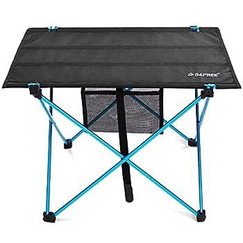 G4Free Table de camping pliante ultralégère, portable, compacte, enroulable avec sac de transport pour camping, randonnée, pique-nique