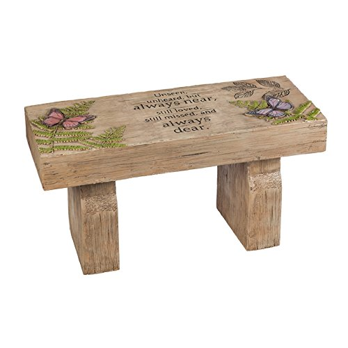 New Creative Those We Love Memorial Outdoor Garden Bench 29' Wide x 14.4' Tall