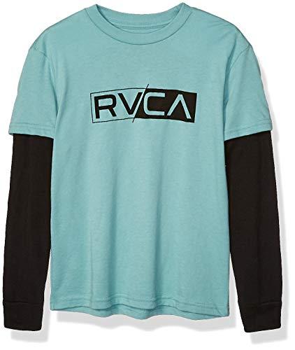 RVCA Jungen Thermal 2FER Long Sleeve Shirt Hemd, meergrün, Klein