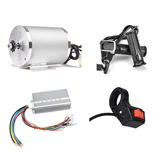 Elektroroller Motor 48V 2000W Mittel Antriebsmotor DC Bürstenloser Controller 45A mit LCD-Drosselklappengriff 3-Gang-Schalter für Go Kart ATV Elektro-Fahrrad-Umrüstsatz (48V 2000W 45A Motor kit)