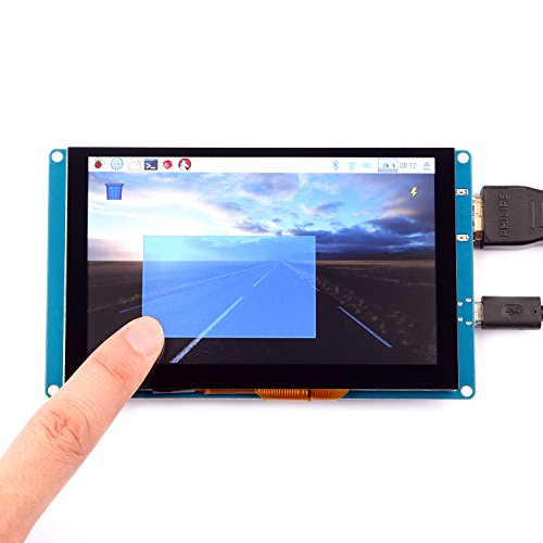 geeekpi 5 Inch Capacitive Touch Screen 800 X 480 HDMI Monitor TFT LCD Display for Raspberry Pi 3/2 Model B/B +/Pi Zero & BeagleBone Black & PC