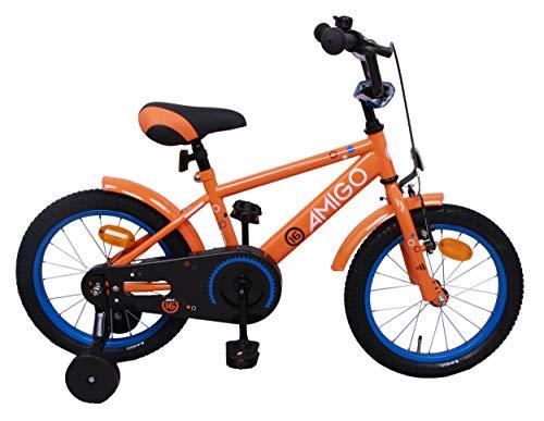 AMIGO Sports - kinderfiets - 14 inch (voor 3-4 jaar) - met stabilisatoren - oranje