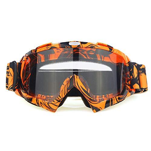 Zfeng Gafas para deportes al aire libre o fuera de carretera, con protección contra el viento y la arena, antiimpactos y antipolvo, para gafas de visión -H