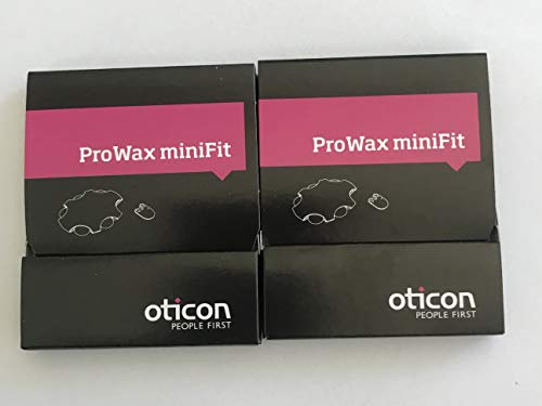 Oticon Prowax Minifit Wax Filters replacements for hearing aids (2 packs)