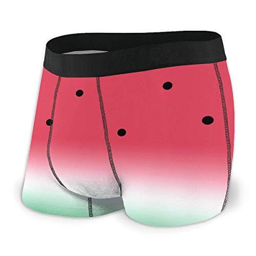 huatongxin Funny Watermelon Fruit Melon Boxershorts Soft Cotton Breathable No Ride Up Unterwäsche for Men