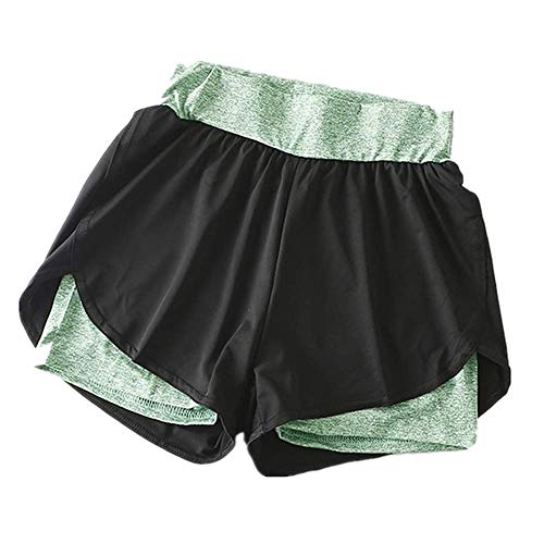 N\P Señora Mujeres Yoga Patchwork Deporte Leggings Cintura Alta Medias Pantalones Elásticos Pantalones Pantalones Cortos Pantalones Fitness Pantalones - verde - X-Large