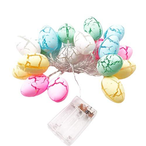 Kagodri Guirnalda de luces transparentes para Pascua Crackeado, 3 metros, 20 luces de cadena de luces con pilas, se utiliza para decoración de fiestas familiares