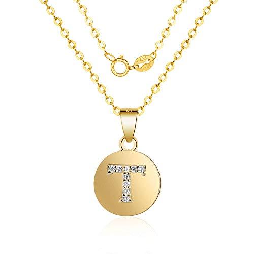 925 sterling zilver gevuld met de naam initiaal zirkonia charme hanger halsketting letter hanger halsketting geschenk
