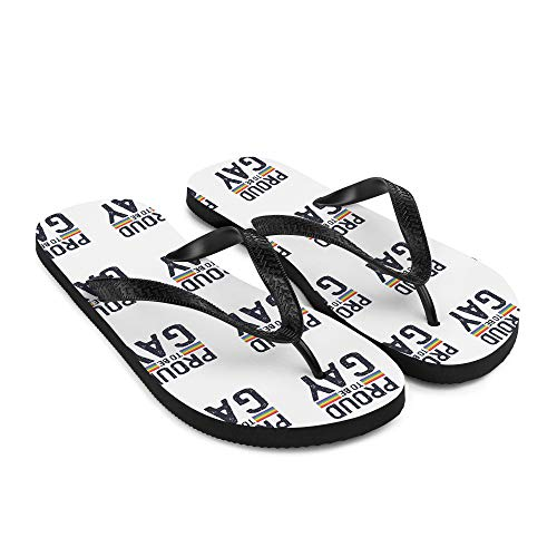 Proud to be Gay Flip-Flops LGBT Flip Flops Beach Sandalen Pool Schuhe