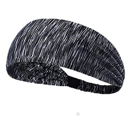 PPLAX Yoga Stirnband Sport-Stirnbänder für Yoga-Training läuft athletische tragen breite elastische Turban-Stirnbänder Kopftuch Haarschmuck für Männer Frauen (Color : 6)