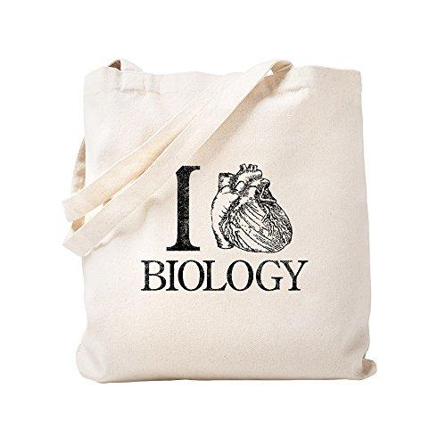 CafePress I Heart Biologie-Tragetasche, canvas, khaki, Größe S