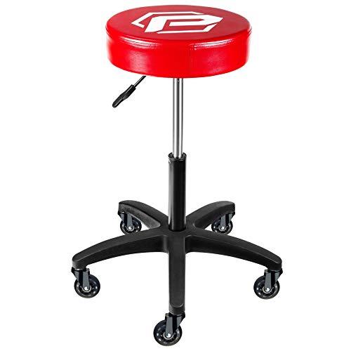 Powerbuilt Pro Height Adjustable Rolling Seat Stool
