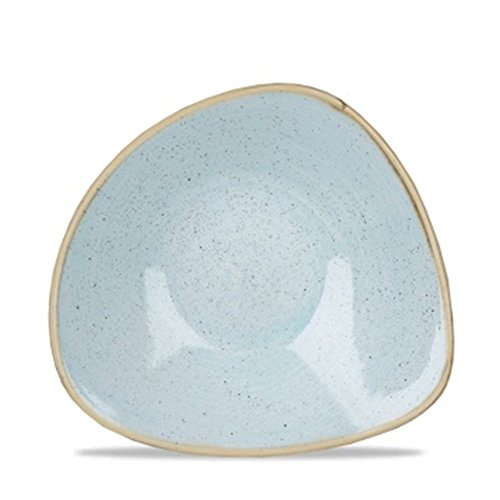 Churchill Stonecast Triangle Bowl Duck Egg Blue 265mm (Pack of 12) - [DK507]