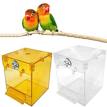 ZJL220 Suspendu Oiseau Bain Cube Oiseau Baignoire Perroquet Bain Douche boîte Bol Cage Lavage Espace Nettoyage toilettage Accessoires pour Oiseau canari Perruche