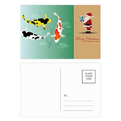 Voorwaardelijke Chinese vis verzamelen Kerstman ansichtkaart Set Thanks Card Mailing 20 stks