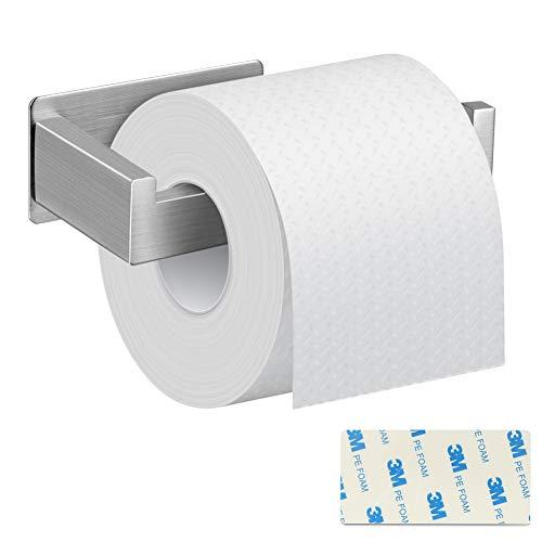 Toilettenpapierhalter Ohne Bohren, DIAOPROTECT Klopapierhalter Selbstklebend, Patentierter Kleber,304 Edelstahl,Wandhalterung Wc Halter Rollenhalter Papierhalter für Küche und Badzimmer