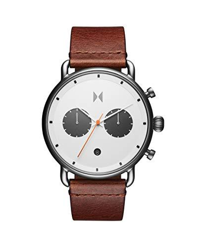 MVMT Herren Analog Quarz Uhr mit Leder Armband 28000010-D
