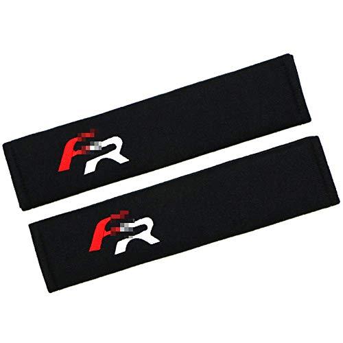HYCy Almohadilla para cinturón de Seguridad de Coche de algodón Puro Negro para Asiento Leon FR Opel Nissan BMW Suzuki Hyundai Mercedes XY01, Protector de Hombro para Funda de cinturón de segurid