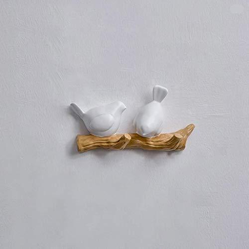 NSYNSY percheros para Muebles, Perchero Creativo, Perchero de Pared, Perchero para habitación, decoración del hogar (Negro, Blanco) 21 * 5.5 * 11.5 cm (Color: Negro, tamaño: 21 cm)
