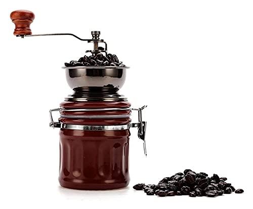 Retro ręczny szlifierka do kawy,ceramiczna manualna szlifierka.Mały szlifierka gospodarstwa domowego obsługuje kawa kroplowa,espresso,francuski prasa do kawy młynka do kawy,maszyna do espresso i różdż