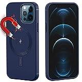 Funda Magnética Compatible con iPhone 12 Pro Max, Case con Círculo Magnético Integrado, Soporte para Carga Inalámbrica y Cartera, Cubierta Protectora (para iPhone 12 Pro Max-6.7 pulgadas, Azul)