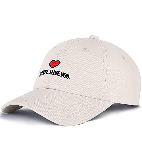 Sksngf Baseballmütze, Trendy Hip-Hop-Hut, beiläufige Art und Weise Sonnenhut, Studentenbaseballmütze, mit veränderbarer Länge.Outdoor Sports Nutzung, Breathable Wärmeableitung, stilvolle Einfachheit