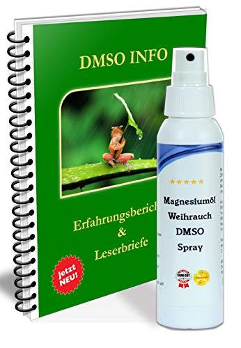 ORIGINAL DMSO Spray 60 - Weihrauch Auszug + Magnesiumöl Dimethylsulfoxid 99,9 Magnesiumchlorid HDPE Sprayflasche (100ml), mit Gratis PDF Handbuch