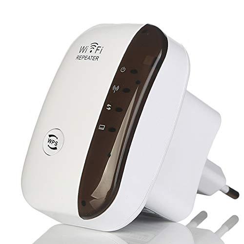FONCBIEN Ripetitore WiFi Wireless,300Mbps Amplificatore Segnale Wi-Fi Range Extender WiFi Repeater,modalità AP/Repeater, Porta LAN RJ45, Compatibile con Modem Fibra e ADSL (300M) (300M)