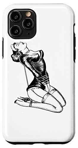 iPhone 11 Pro French Maid Erotic Lingerie Domination Girl in Bondage BDSM Case