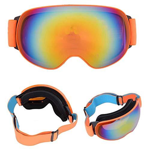 SALUTUYA Gafas Deportivas de esquí MSD007 Mano de Obra Fina Antivaho para Todo Tipo de Deportes de Invierno con un Uso cómodo(Orange Framed Orange Full REVO Red Film)