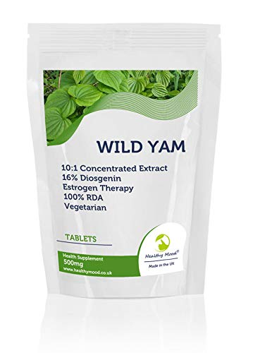 Wild Yam 500mg Vegetarian Tablets Diosgenin Estrogen Therapy UK - Pack of 30