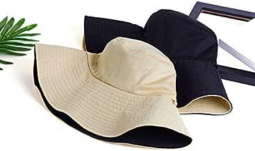 ZHUOHONG Sombrero para el Sol: Dos Colores, Cubo de Doble Cara de Uso, Sombrero para el Sol de Verano, Sombrero de Playa Plegable, Lado Ancho UPF50 + Unisex